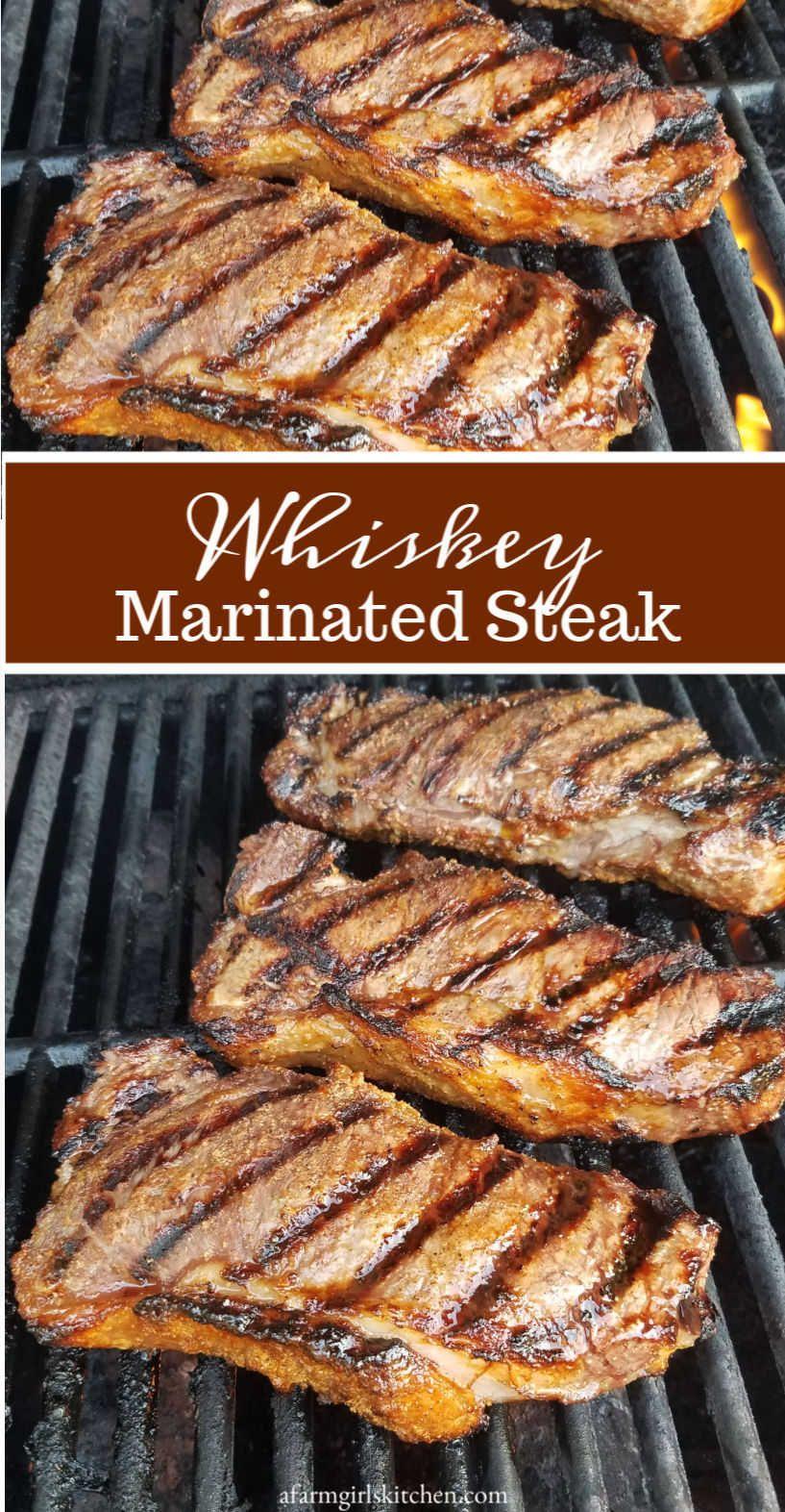 Best Whiskey Marinated Steak Easy Steak Marinade Marinated Steak Strip Steak Recipe Steak Marinade