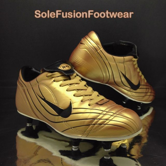 489f28185975 Nike Mercurial Vapor mens R9 Football Boots Gold sz 7 Rare VTG SG Cleats US  8