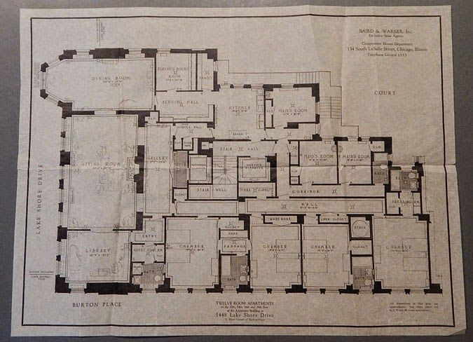 Chicago Condo Floor Plans: Floorplan Of Frances Glessner Lee's Apartment At 1448 Lake