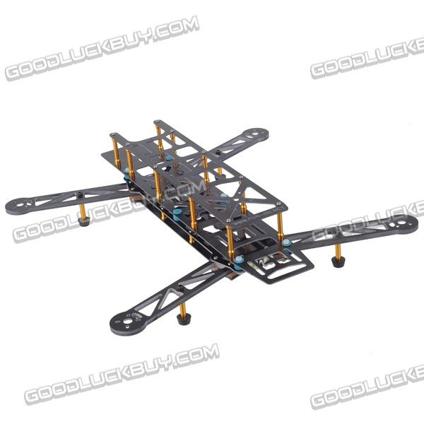 $80 400mm 4-Axis Fiberglass Alien Quadcopter Frame Kit w/Head Light ...