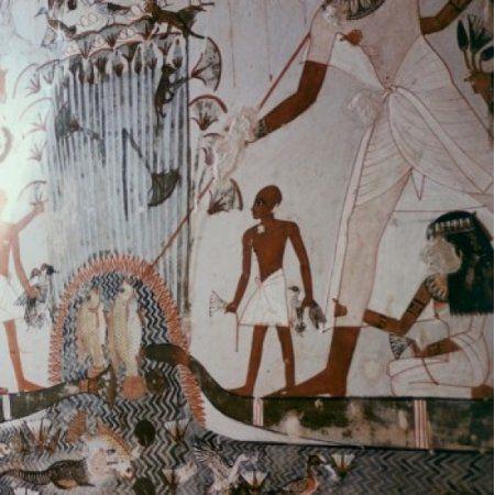 Menna Tomb Thebes Egyptian Art(- ) Canvas Art - (18 x 24)