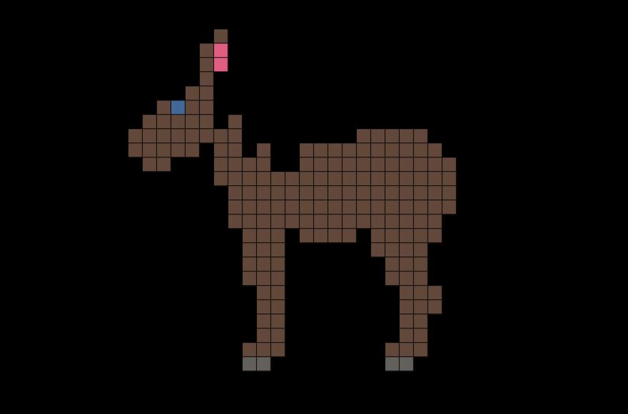 Horse Pixel Art Pixel Art Cross Stitch Animals Crochet Border Patterns