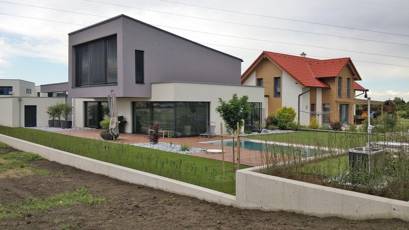 Whitecube ein modernes architektenhaus in wiener for Gartengestaltung neubau