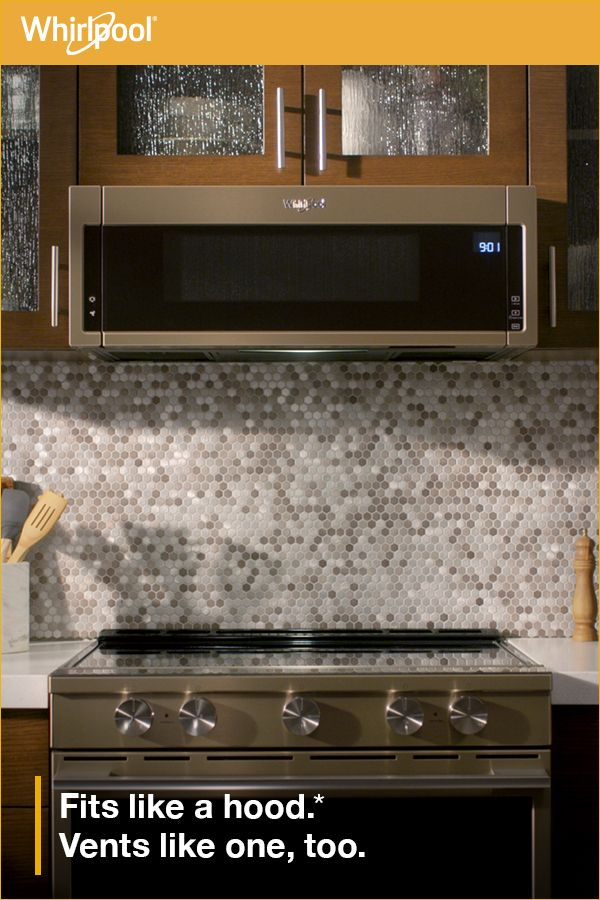 Learn About The New Whirlpool® Low Profile Microwave Hood *Based On 24u201d  Minimum