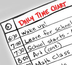 This article teaches kids how to create a daily schedule so they can learn time management skills.
