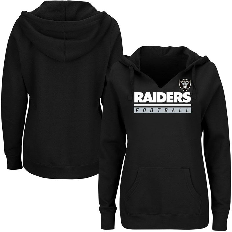 hot sales a2351 b583b Oakland Raiders Majestic Women's Plus Size Self ...