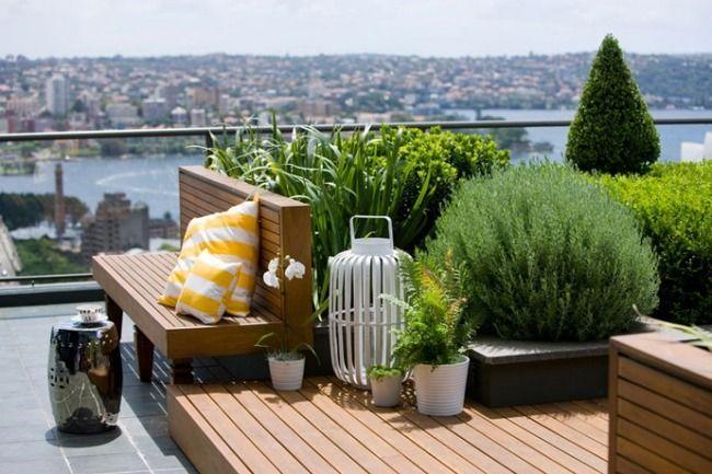 dachterrasse holz sitzbank plattform glas gel nder str ucher outdoor pinterest. Black Bedroom Furniture Sets. Home Design Ideas