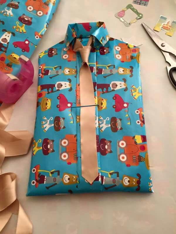Fabuleux Emballage cadeau chemise Super original  | Crafts  YQ59