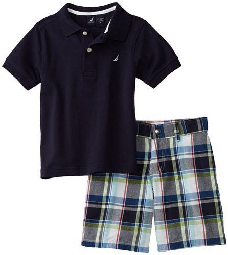 7c973ad3 Nautica Sportswear Kids Boys 2-7 Shirt and Short Set   boys boys ...