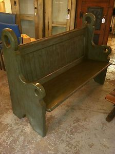 Awesome Sweet Solid Antique Church Pew Bench Unique Style Ebay Andrewgaddart Wooden Chair Designs For Living Room Andrewgaddartcom