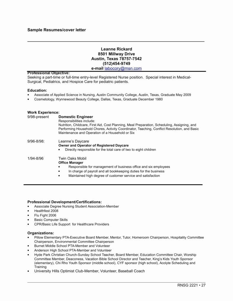 Entry Level Nursing Cover Letter Luxury Job Application ...