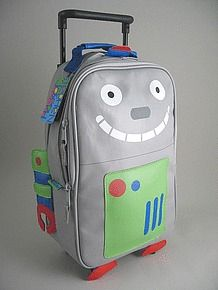 Personalized kids rolling backpack stephen joseph - robot ...