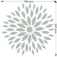 Stencil de flores para pared buscar con google pintura - Plantilla mandala pared ...