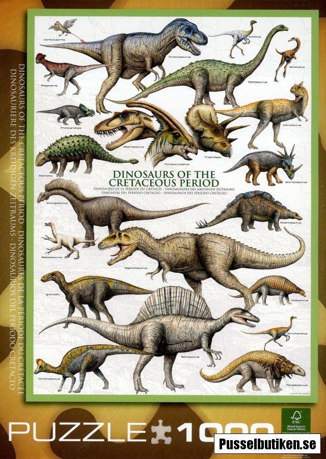1000 pièces Eurographics Dinosaures du Jurassique Jigsaw Puzzle