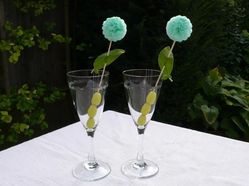Pom Pom Manufaktur our newest creation pompom cocktail sticks christine steingraeber