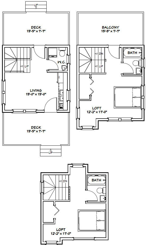 16x16 House 2Bedroom 2.5Bath 697 sq ft PDF
