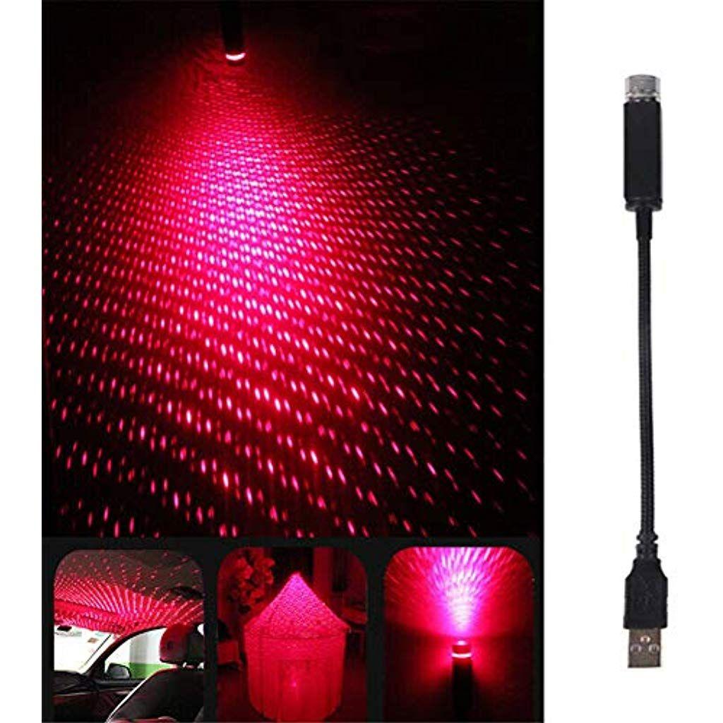 Sternennachtlichtprojektor Plug Play Auto Und Heimdecke Romantisches Usb Nachtlicht Dachbeleuchtung Atmospharen Dekoration Glas Nachtlicht Glasfaser Projektor