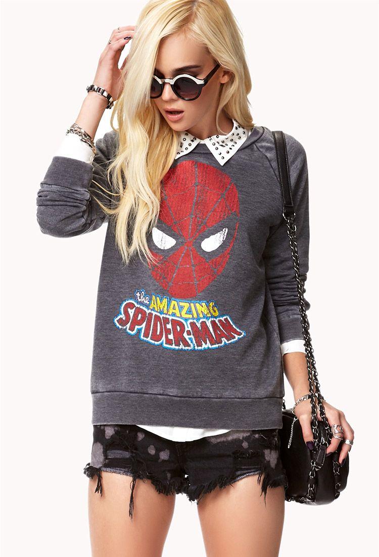Amazing Spiderman© Sweatshirt | FOREVER21 - 2075573257