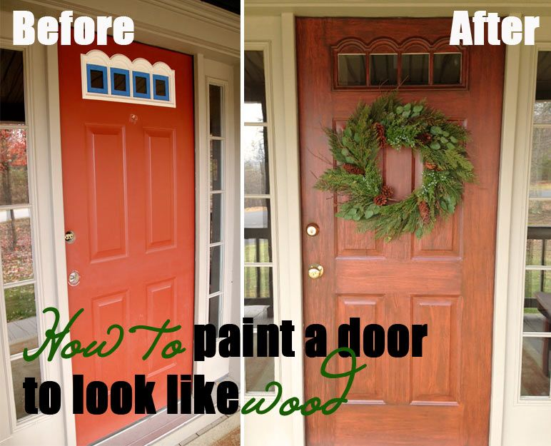 Step By Step Instructions For How To Paint A Door To Look Like Wood