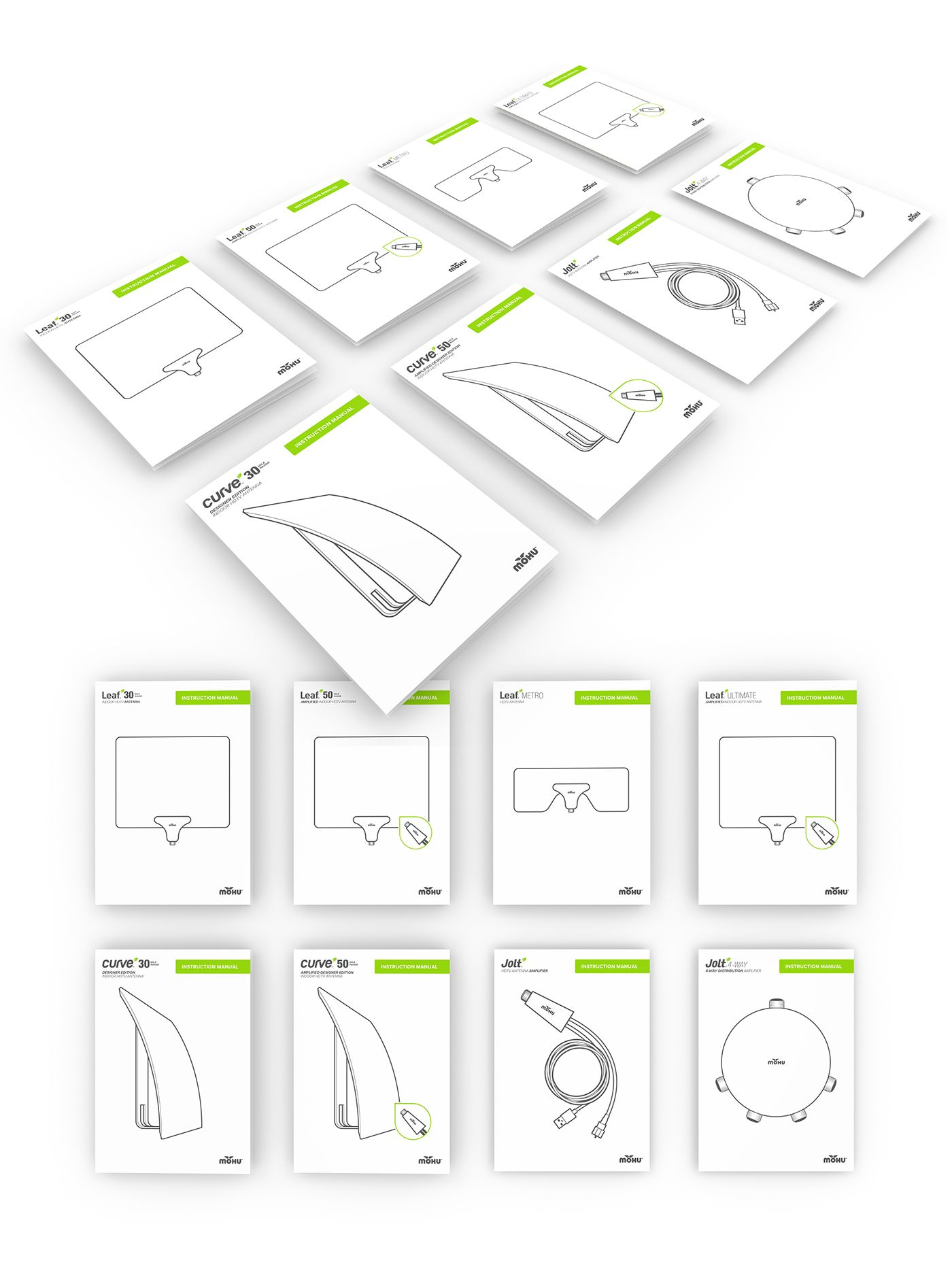 Instruction manuals created for Mohu product line