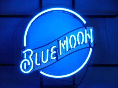 Blue Moon Beer Bar Pub Neon Light Sign | Beer signs, Blue
