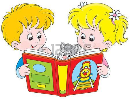 De Ninos Leyendo Un Libro Kids Reading Kindergarden Animal Theme