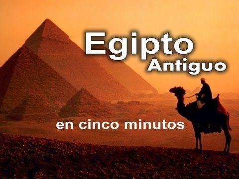 El Antiguo Egipto En Sólo 5 Minutos Youtube Egipto Egipto Antiguo Historia De Egipto