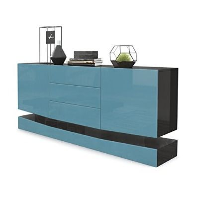 Sideboard Kommode City Korpus In Schwarz Hochglanz Fronten In