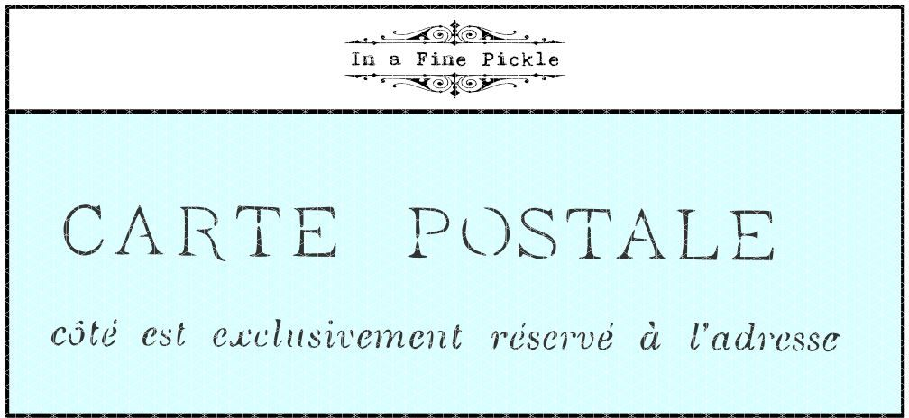 A stencil from a French postcard. Made in Australia.
