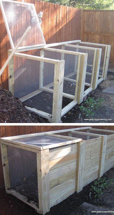 Diy Compost Bin Ideas And Plans Diy Compost Compost Bin Diy