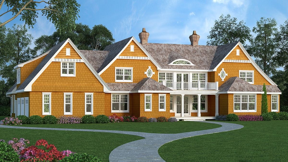 High End Shingle Style House Plan 3898ja 01 Traditional House Plans House Plans Craftsman House Plans