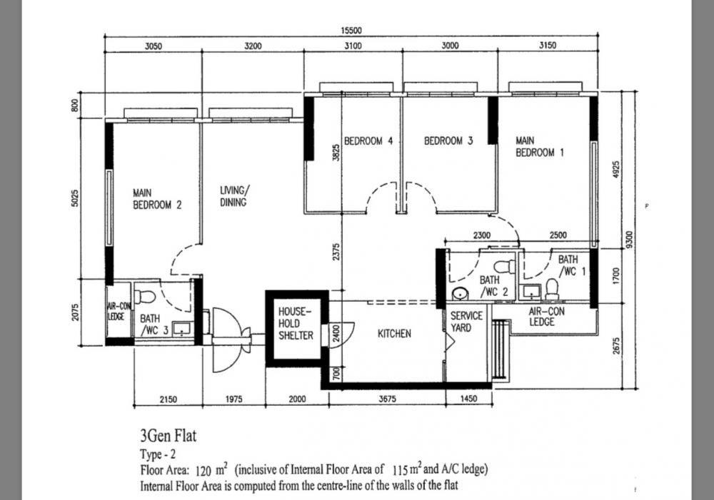 Hdb 3 Generation Flat Floor Plan In 2020 Floor Plans How To Plan House Plans