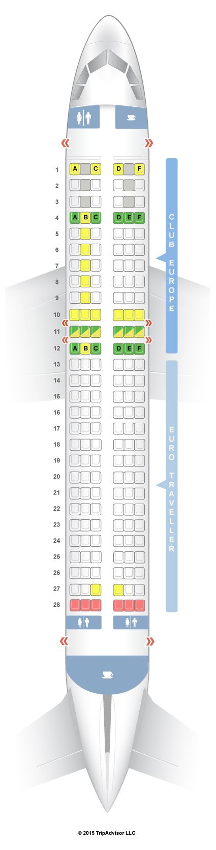 Seatguru Seat Map British Airways Airbus A320 320 European Seatguru Seatguru Economy Seats British Airways