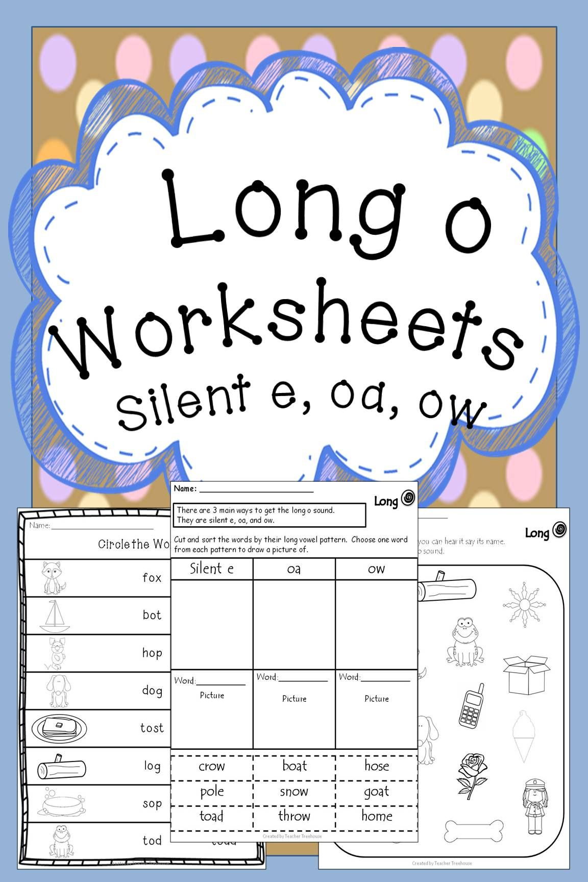 Long O Worksheets Silent E Oa Ow Creative Teaching