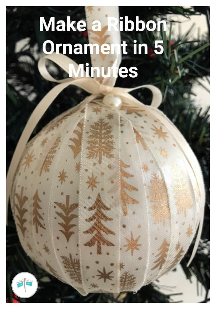 Ribbon Ornaments | Easy to Make Christmas Ornaments #diyornaments #christmasornaments #easychristmasornaments #ribbonornament #christmascrafts #quickchristmascrafts #dollarstorecrafts #dollatstorechristmascrafts