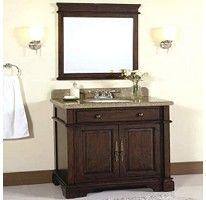 32″ Granite Top Vanity with Backsplash and Mirror – Sam's Club Oturma Odası