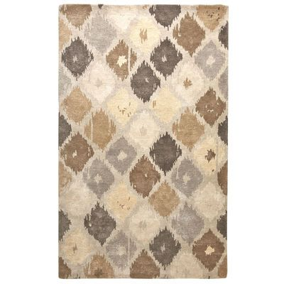 Feeling Spontaneous Our Hand Tufted Rug Certainly Is Rich In Global Tradition Its Variegated Diamond Ikat Pattern Adds Unexp Rugs Cool Rugs Hand Tufted Rugs