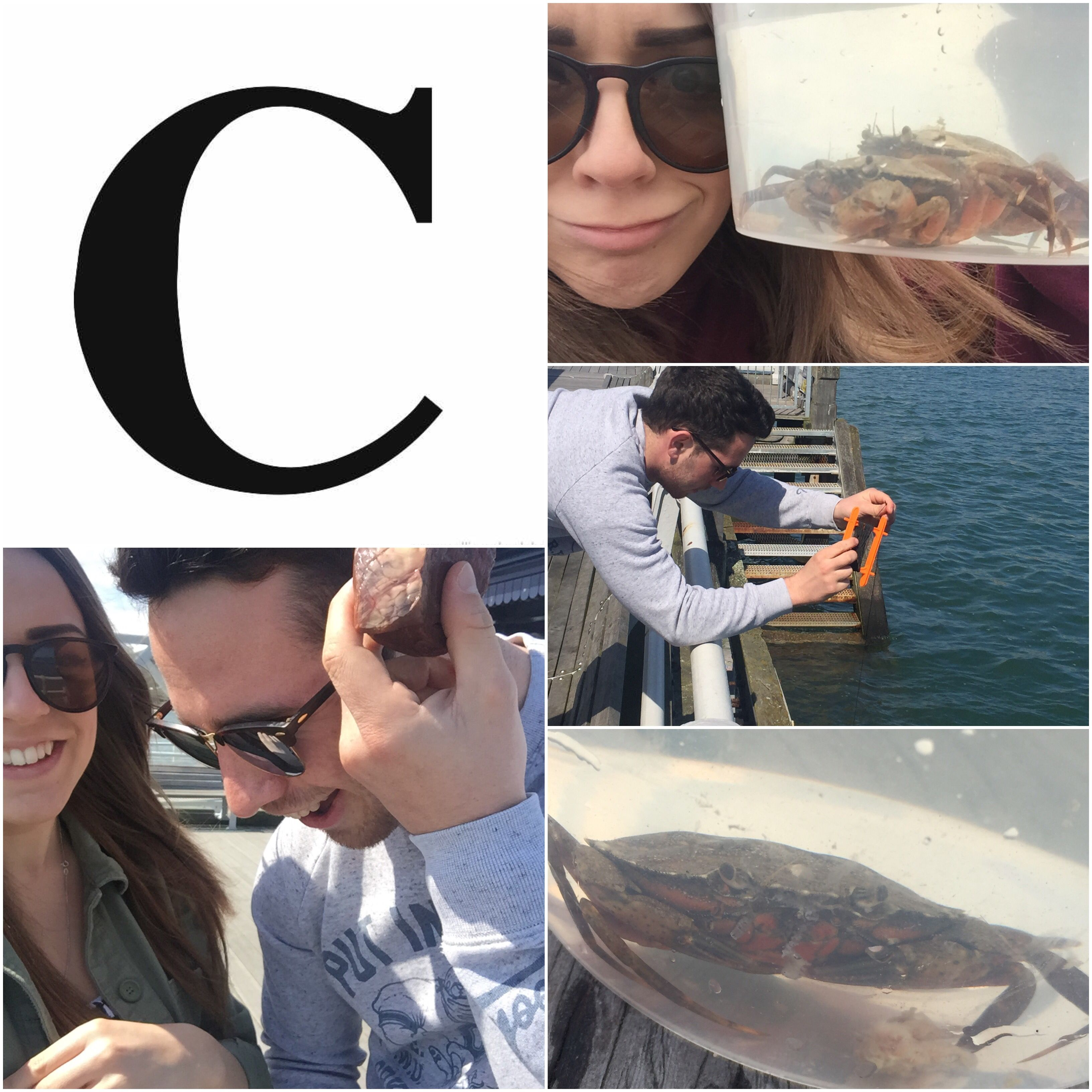 C is for Crab Fishing! Best day out at Beaumaris, Anglesey! Sunshine, laughter and fish and chips on the pier ❤️ #AlphabetDating