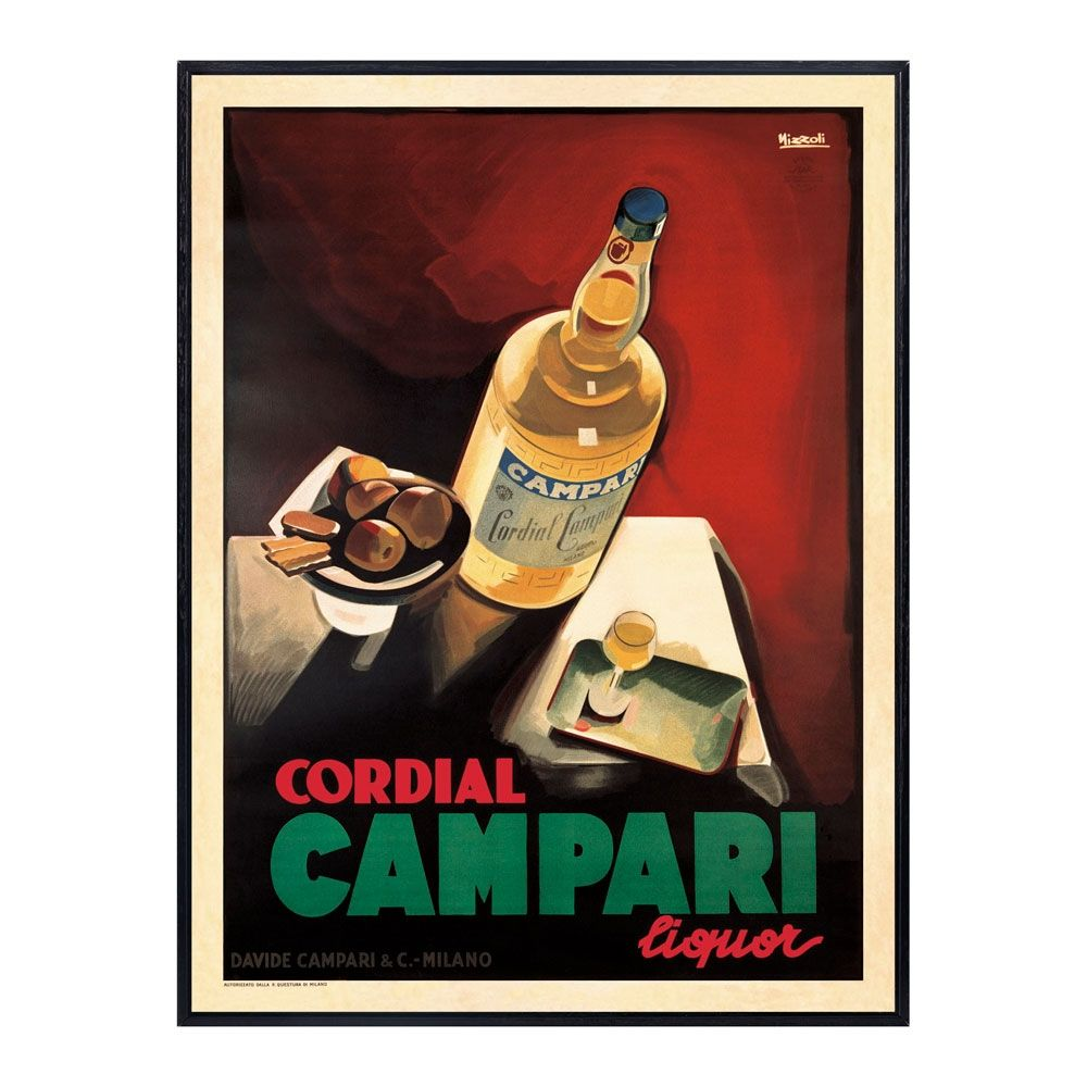Campari By Vintage Posters From Around The World Vintage Italian Posters Vintage Advertising Posters Vintage Advertisements