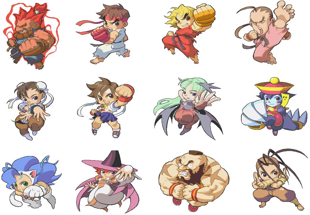 pocket fighter Haikyuu, Pegatinas, Diseño de personajes
