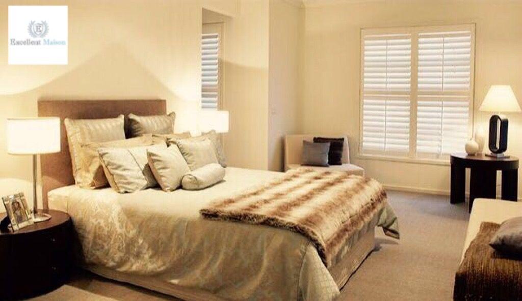 Met shutters in de slaapkamer geeft u uw slaapkamer een warme sfeer ...
