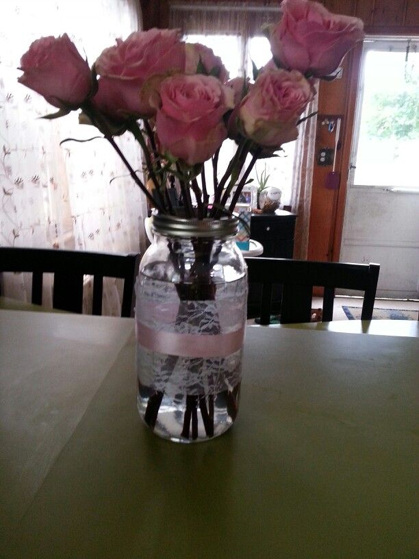 Centerpieces baby girl baptism teacup roses lace