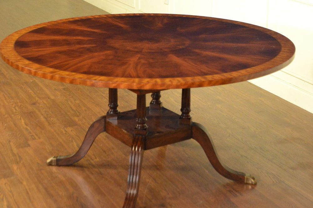 Amazing Leighton Hall Round Traditional Inlaid Mahogany Dining Table Download Free Architecture Designs Scobabritishbridgeorg