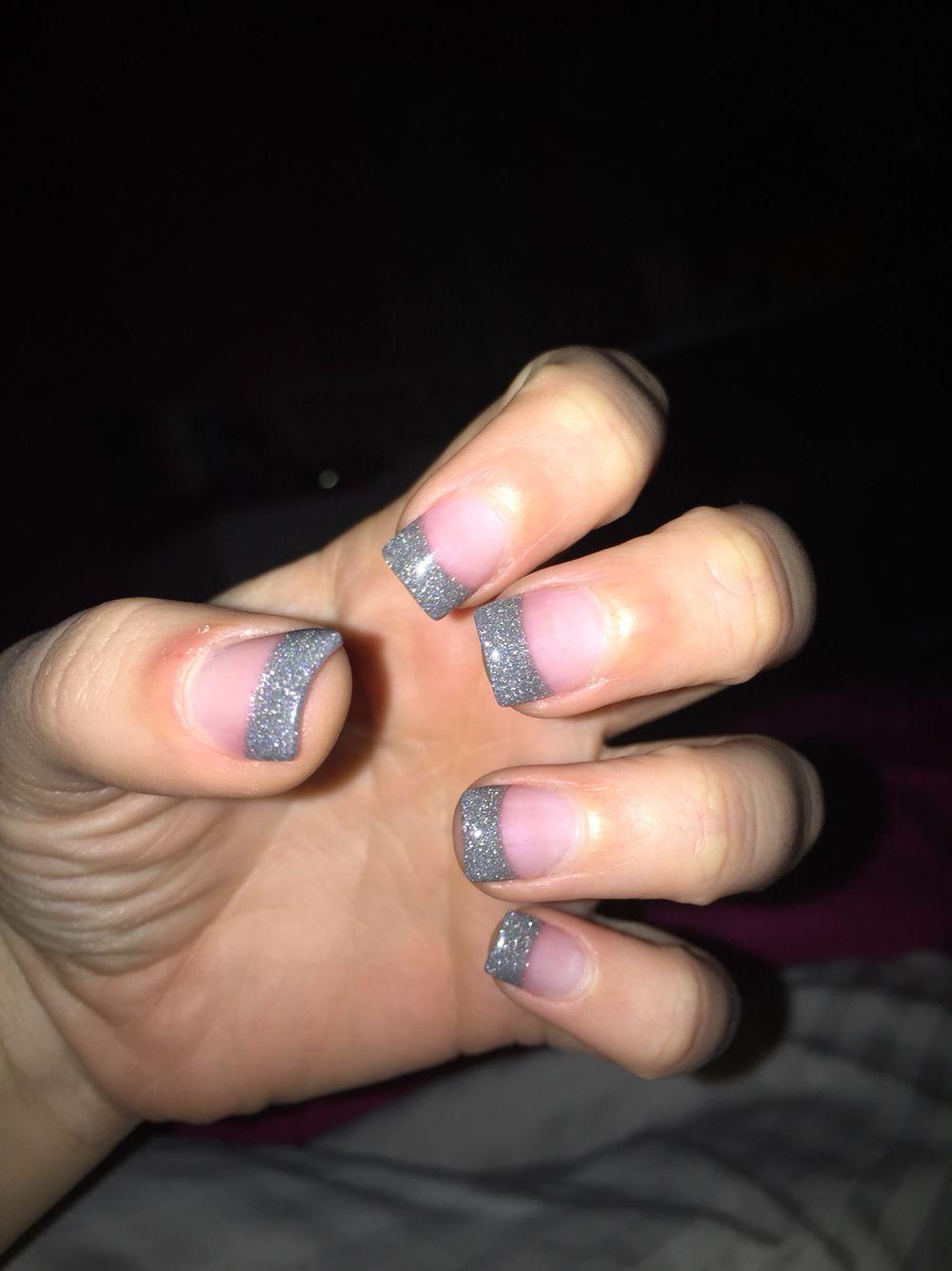 Glitter French tip solar nails   Nails   Pinterest   Solar, Hair ...