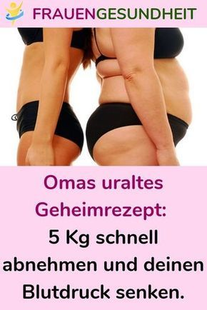 Omas Rezepte, um den Bauch abzunehmen