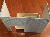 Pantalla de caja de arena para gatos Ayuda a mantener a los perros fuera de la basura y le da privacidad al gato