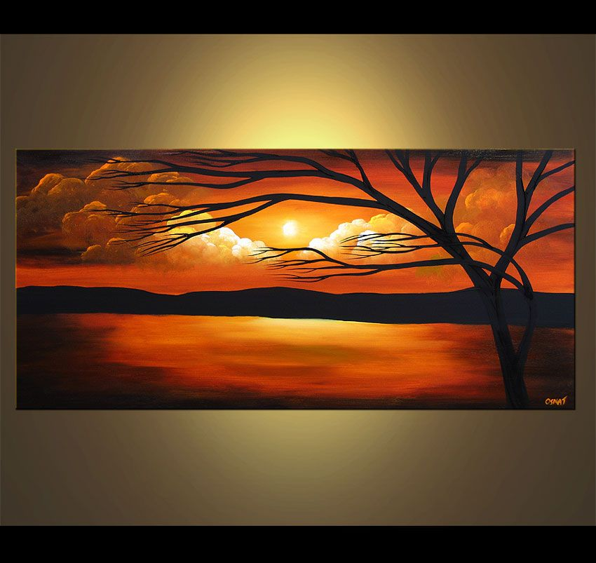 Abstract And Modern Paintings Osnat Fine Art Sunset Painting Modern Landscape Painting Abstract Landscape Painting