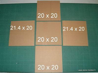 tuto diy fiche pour fabriquer boite en carton d coupe. Black Bedroom Furniture Sets. Home Design Ideas