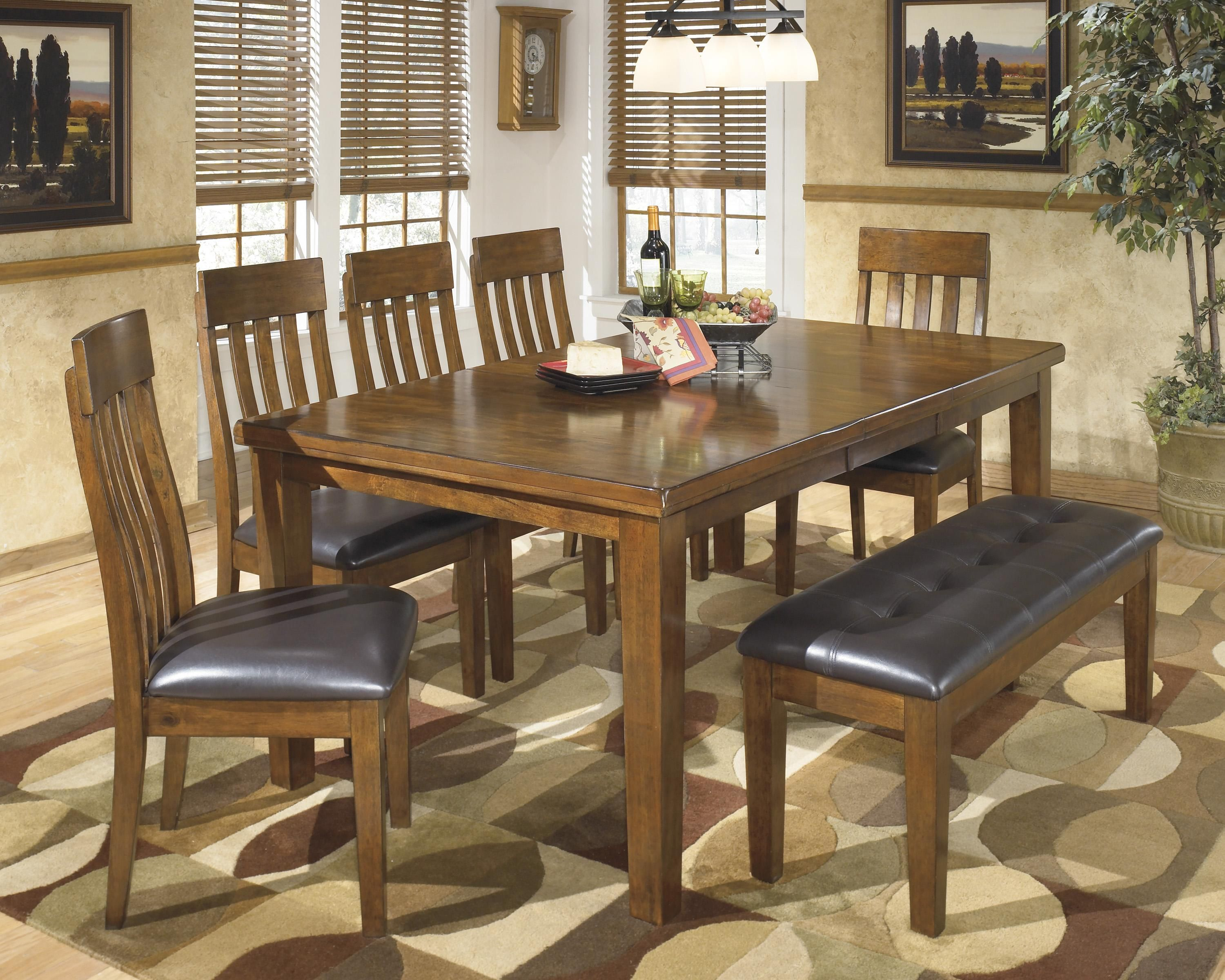 Ralene Casual 7 Piece Dining Set With Butterfly Extension Leaf Bench By Signature Design By Ashley Casual Dining