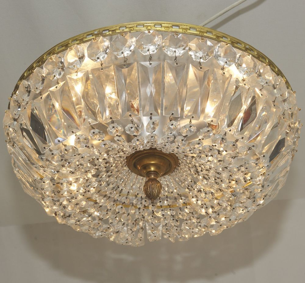 Xl Antik Decken Lampe Ø41cm Kronleuchter Plafoniere Kristalllüster Flush Mount Möbel Wohnen Beleuchtung Deckenlampen Kronleucht Lampen Woonkamer Lampen